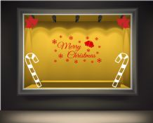 Christmas Window display wall & window stickers, Holiday, Snowmen, Snow, Santa